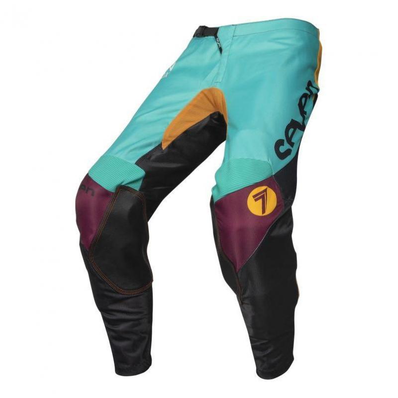 Pantalon cross enfant Seven Annex Exo noir/aqua - 1