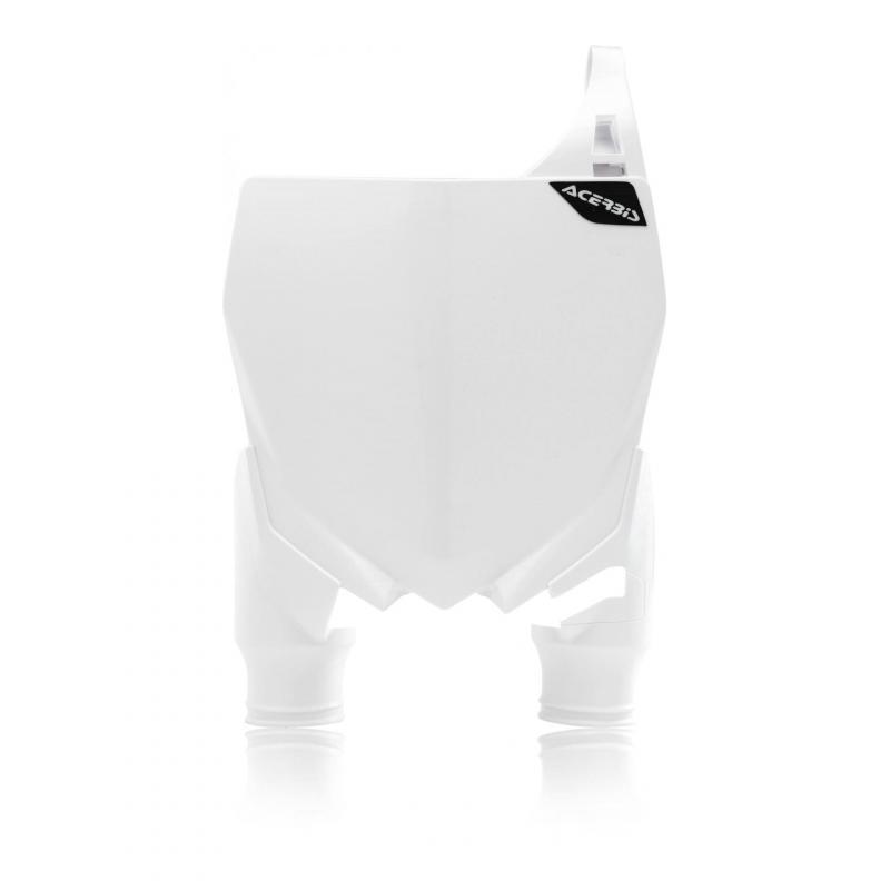 Plaque numéro frontale Acerbis Raptor Yamaha 125 YZ 05-20 blanc