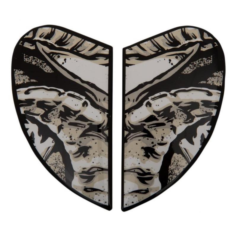 Plaques latérale Icon pour casque Airform Sacrosanct blanc