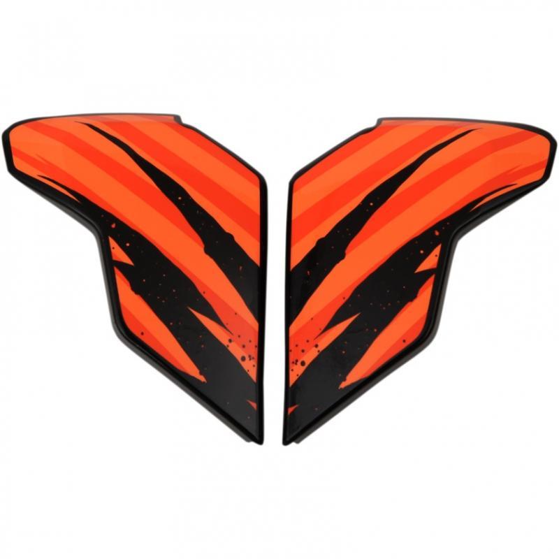 Plaques latérales Icon pour casque Airflite Fayder orange
