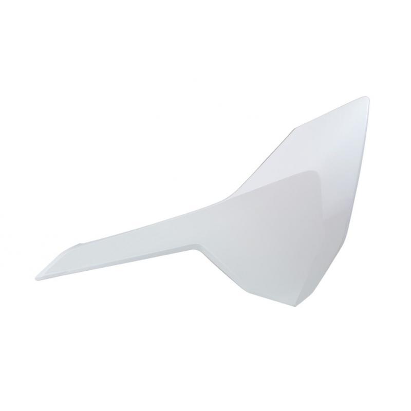 Plaques numéro latérales RTech blanches pour Husqvarna TC 125 2016