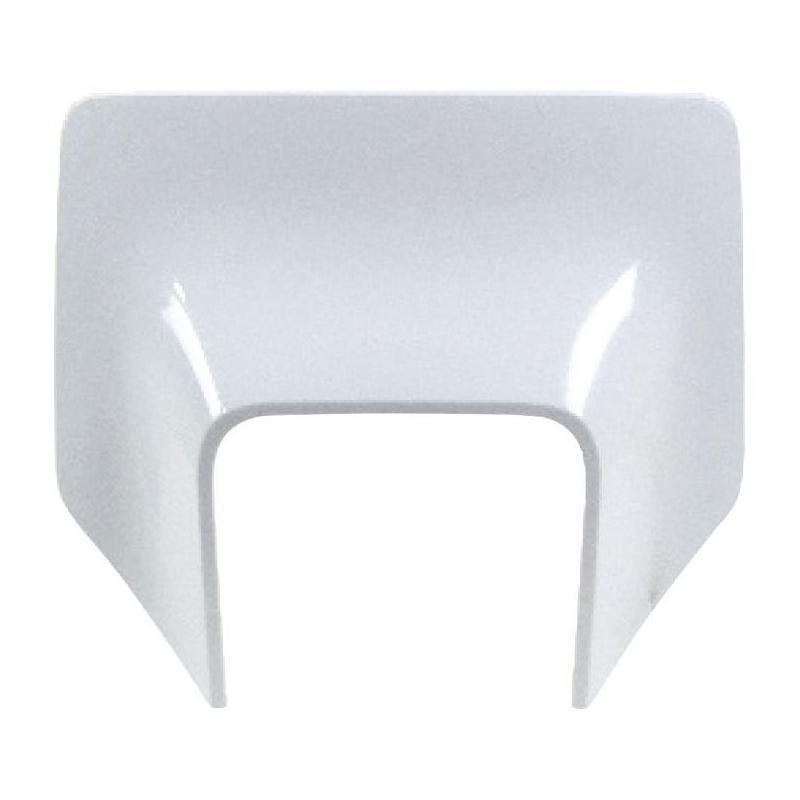 Plastique plaque phare RTech Husqvarna 125 TX 17-19 blanc (couleur OEM)