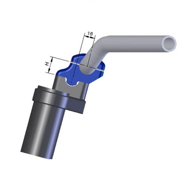 Pontets de guidon LSL Ø22 mm pour tés d'origine rehausse +30 mm décalage 16 mm spécifique Ducati - 2