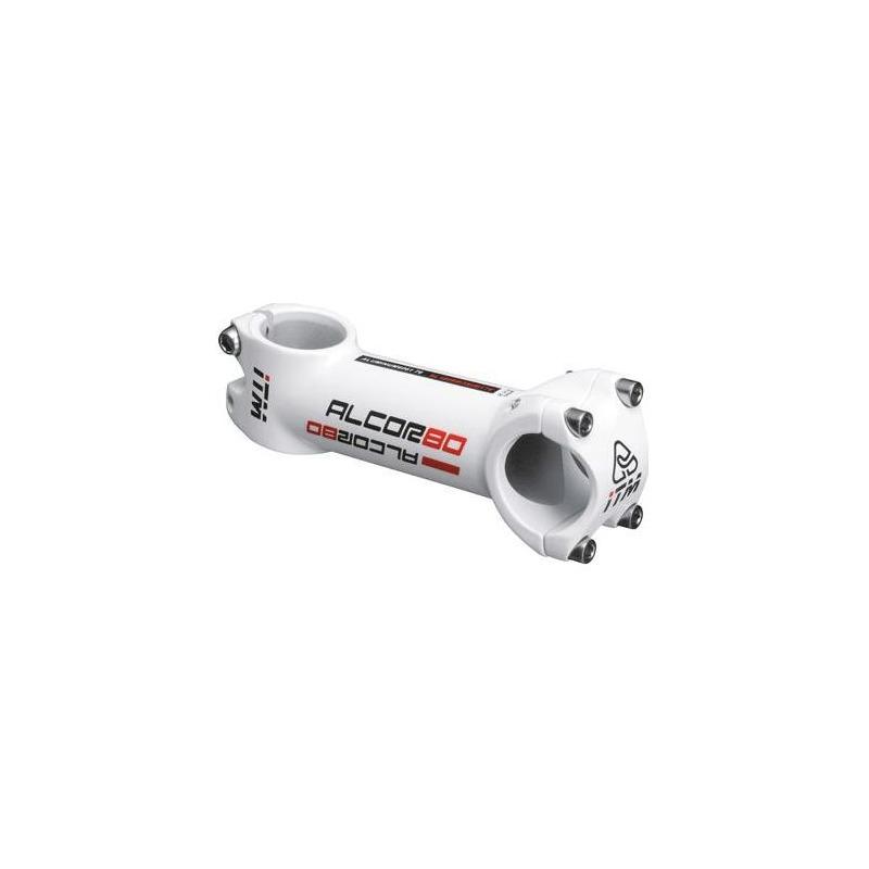 Potence route/VTT ITM Alcor Alu 31,8mm L. 130mm blanc mat