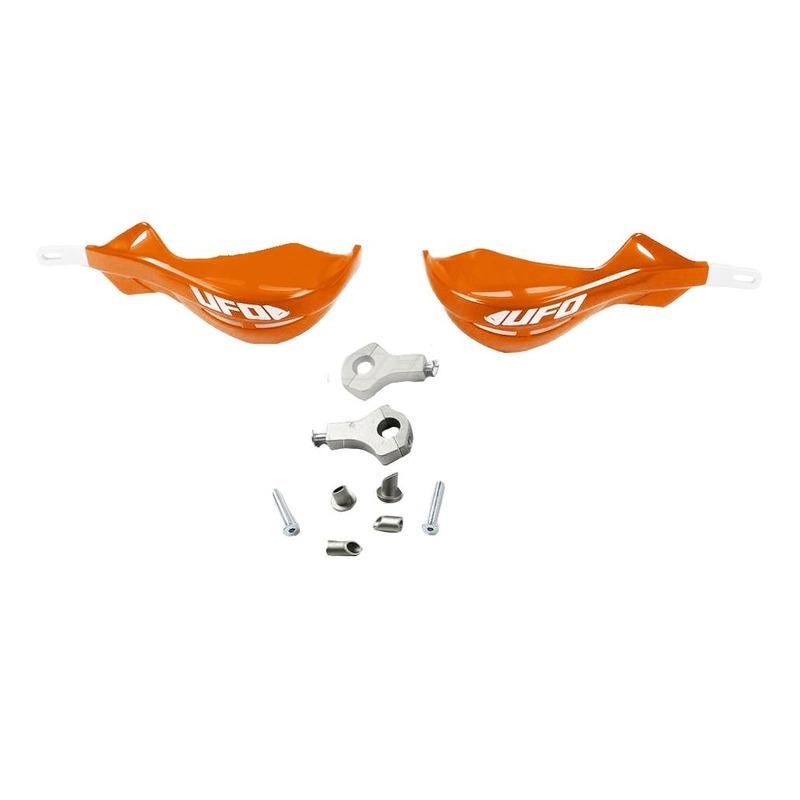 Protege-mains alu UFO ø22mm avec renfort alu orange ktm 98-09