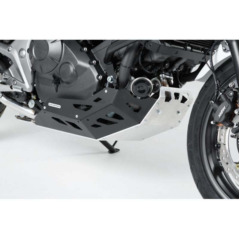 Sabot moteur SW-MOTECH noir / gris Honda NC700 / NC750 sans DCT - 1