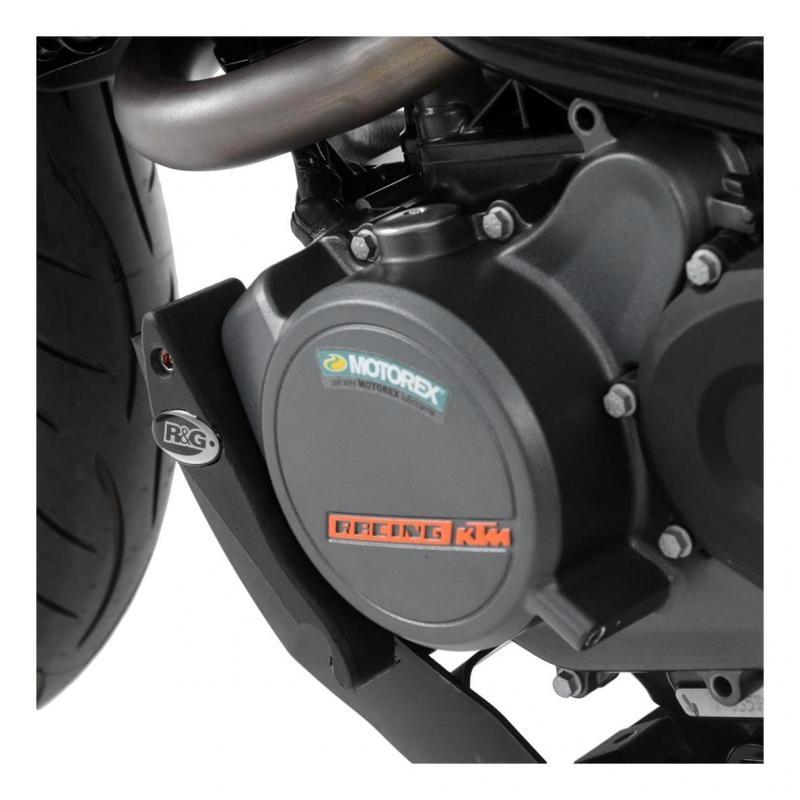 Slider moteur gauche R&G Racing noir KTM Duke 125 17-18