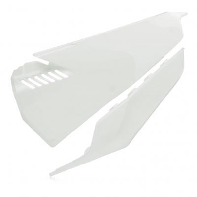 Plaques numéro latérales ventilées Acerbis Vented Husqvarna 250 FC 19-20 blanc
