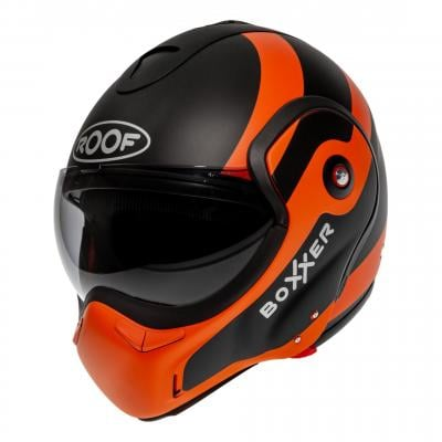 Casque modulable Roof RO9 Boxxer Fuzo noir/orange mat