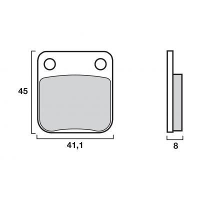 Plaquettes de frein Brembo carbone-céramique 07HO0906