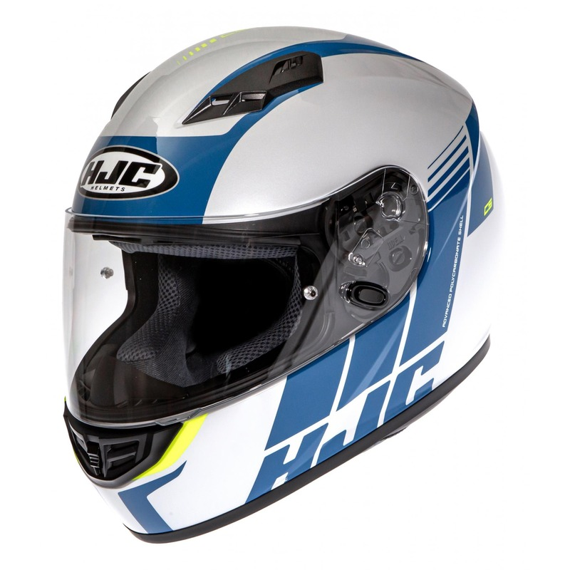 Casque intégral HJC CS-15 Mylo MC24H bleu/blanc/jaune