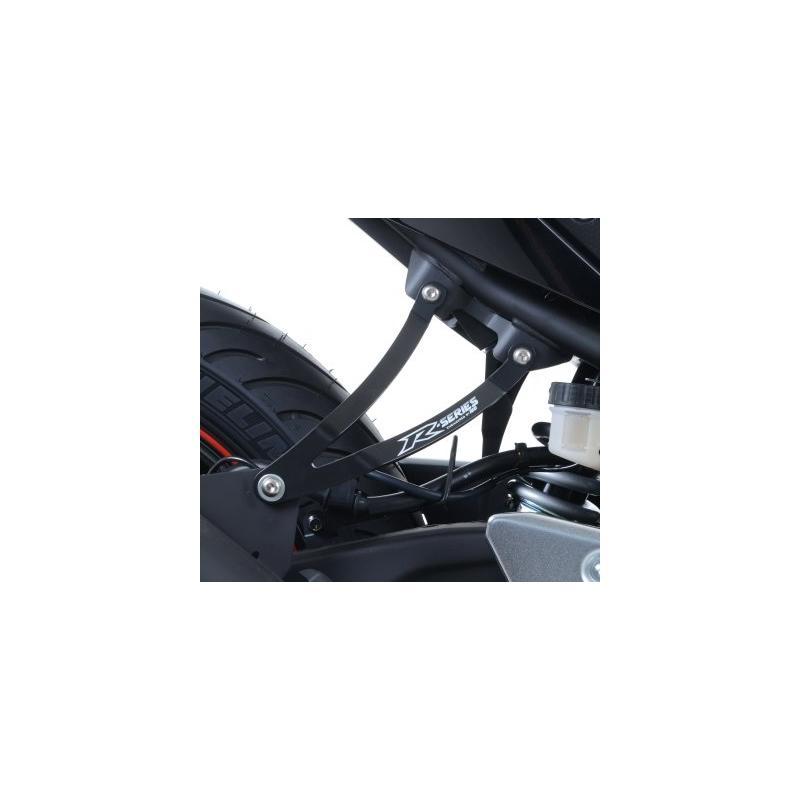 Patte de fixation de silencieux R&G Racing noire Yamaha YZF-R3 15-18 - 1