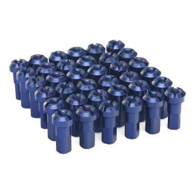 Kit têtes de rayon universel anodisées ART bleu (36 pièces)