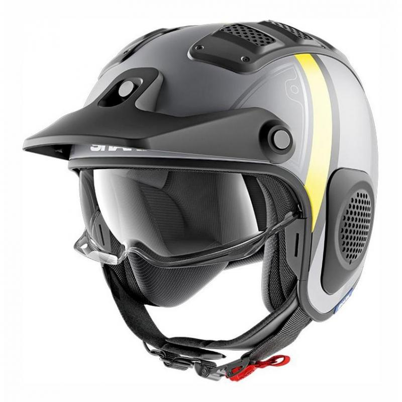 Casque jet Shark X-DRAK TERRENCE MAT anthracite/jaune