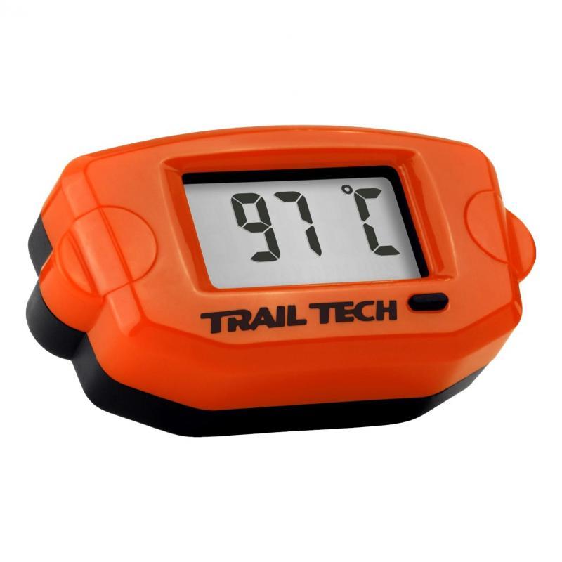 Thermomètre moteur Trail Tech TTO orange capteur durite Ø 25 mm