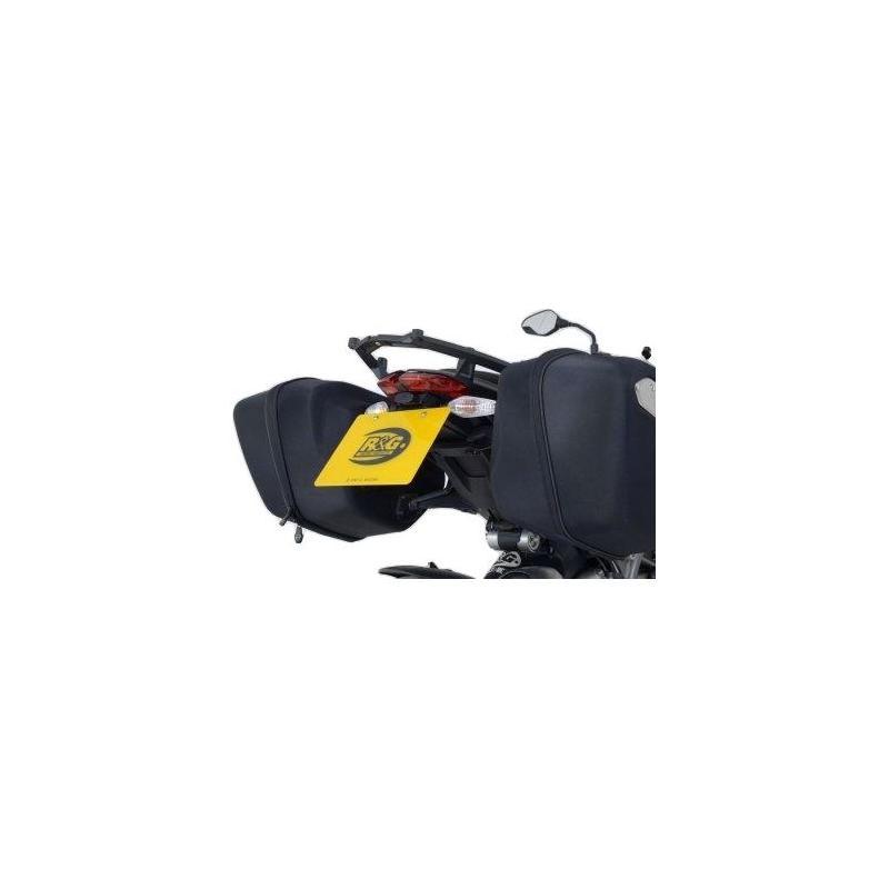 Support de plaque d'immatriculation R&G Racing noir Yamaha FZ8 10-16