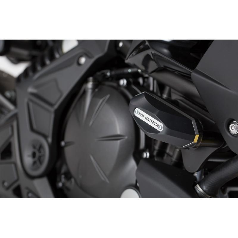 Kit de tampons de protection SW-MOTECH noir Kawasaki Versys 650 15- - 3