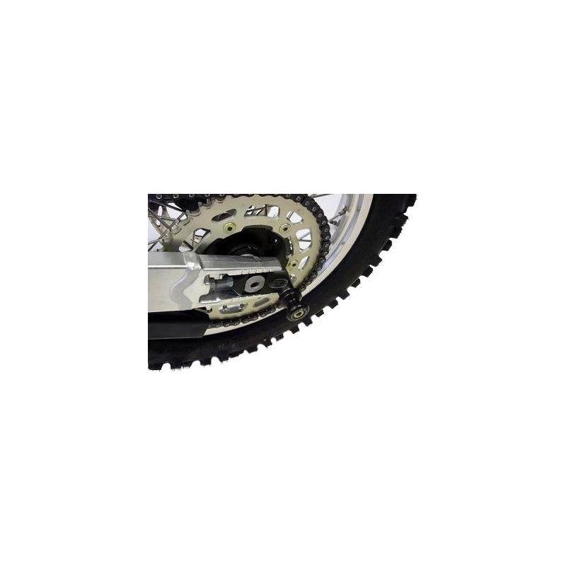 Diabolos de bras oscillant R&G Racing noir sur platine Suzuki GSX-R 750 08-10