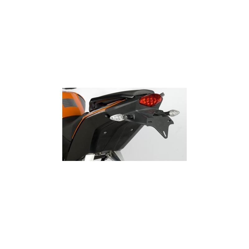 Support de plaque d'immatriculation R&G Racing noir KTM Duke 390 13-16