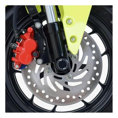 Tampons de protection de fourche R&G Racing noirs Honda CRF 450 R 02-04