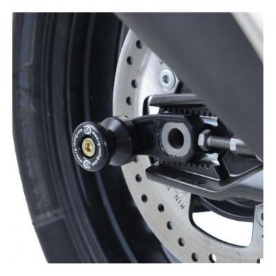 Diabolos de bras oscillant R&G Racing noir sur platine BMW G 310 R 17-18