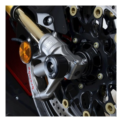Tampons de protection de fourche R&G Racing noir Honda CBR 1000 RR-R 20-21