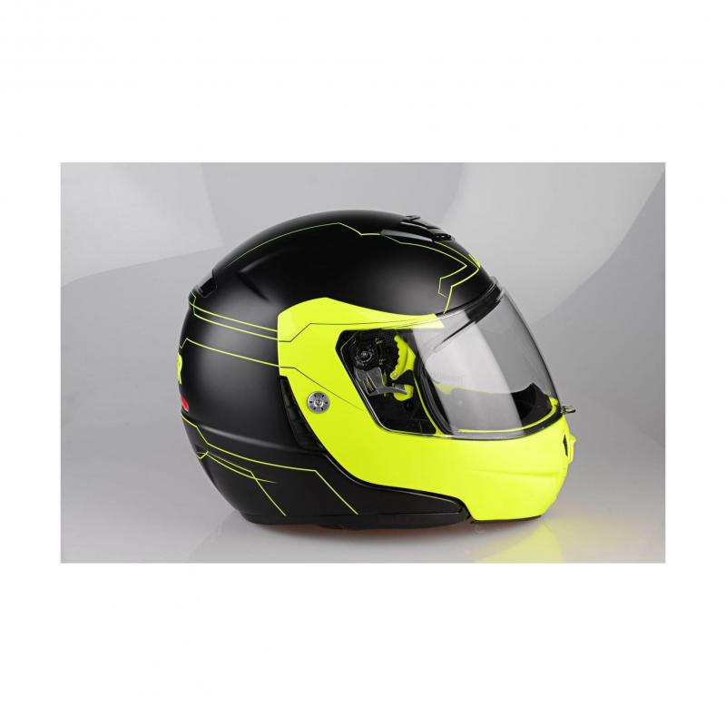 Casque modulable Lazer MONACO EVO Droid Pure Glass noir mat/jaune fluo - 4