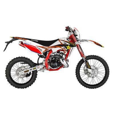 Kit déco + housse de selle Blackbird Rockstar Energy Beta RR 50 11-18 rouge/blanc
