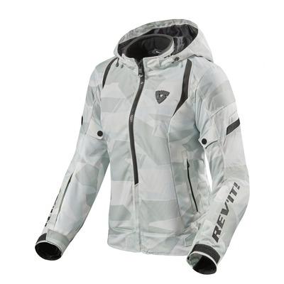 Blouson textile femme Rev'it Flare 2 camouflage gris/blanc