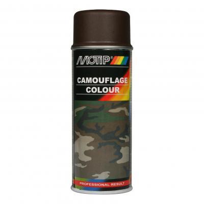 Bombe peinture Camouflage Brun mat RAL 8027 Motip 400 ml M04205