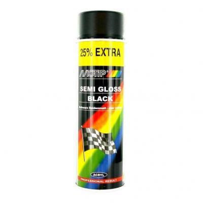 Bombe Peinture noir satiné Motip 500ml