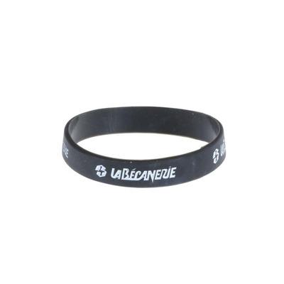 Bracelet silicone La Bécanerie noir/blanc