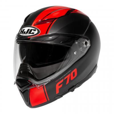 Casque intégral HJC F70 Mago MC1SF noir mat/rouge brillant