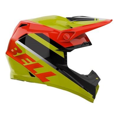 Casque cross Bell Moto-9 Mips Prophecy Brillant jaune/orange/noir