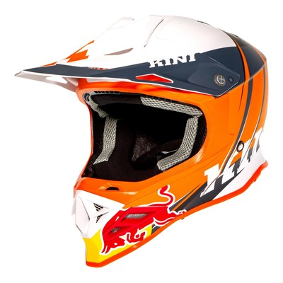 Casque cross Kini Red Bull Competition V.2 orange/blanc/anthracite