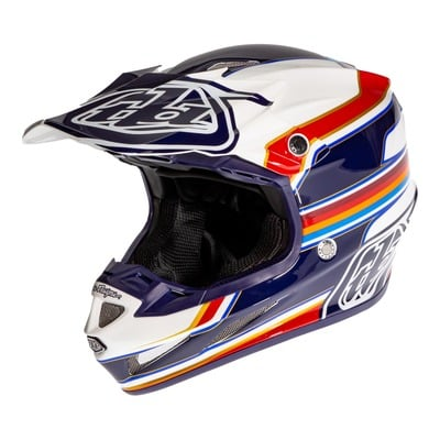 Casque cross Troy Lee Designs SE4 Composite Speed blanc/rouge
