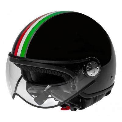 Casque Demi Jet TNT Puck Italia Black