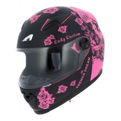 Casque intégral Astone GT2 Graphic LADY CUSTOM noir/rose