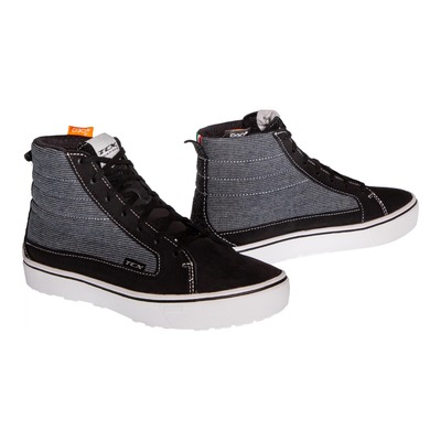 Chaussures moto femme TCX Street 3 Lady Textile WP noir/gris