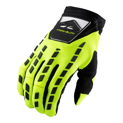 Gants cross Kenny Titanium jaune fluo