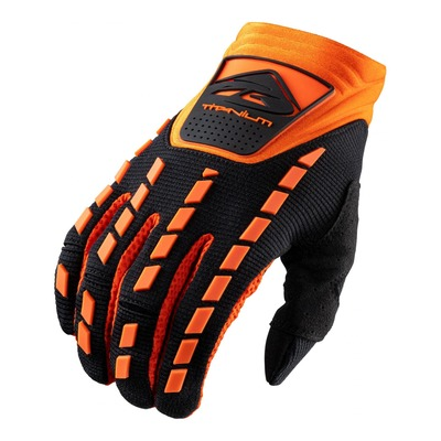 Gants cross Kenny Titanium noir/orange