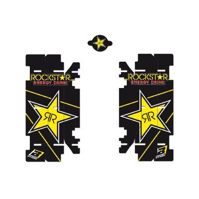 Kit déco de radiateur Blackbird Racing Rockstar Energy Suzuki 125 RM 01-08 noir/jaune