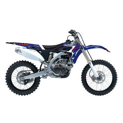 Kit déco + housse de selle Blackbird Dream Graphic 4 Yamaha 250 YZ-F 10-13 bleu/noir