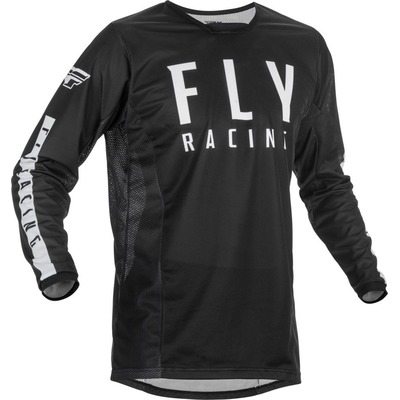 Maillot cross enfant Fly Racing Kinetic Mesh noir/blanc