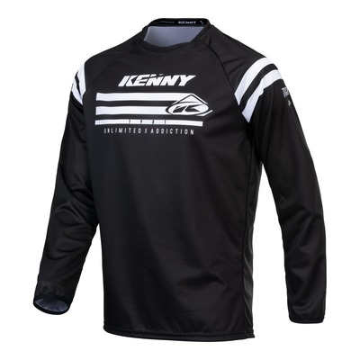 Maillot cross Kenny Track Raw noir