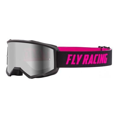 Masque cross Fly Racing Zone noir/rose écran iridium argent