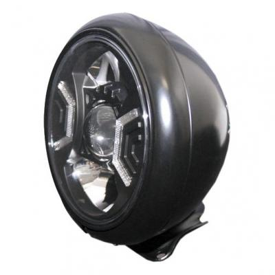Phare LED Highsider HD-Style type 2 fixation inférieure noir