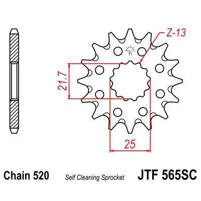 Pignon JT Sprockets Acier pas 520 14 dents - Pour Yamaha YZF-R3 15-17 Anti boue