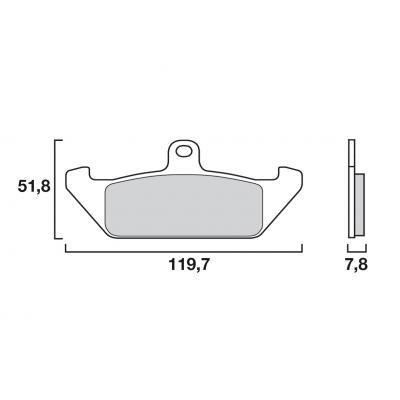 Plaquettes de frein Brembo carbone-céramique 07BB0606