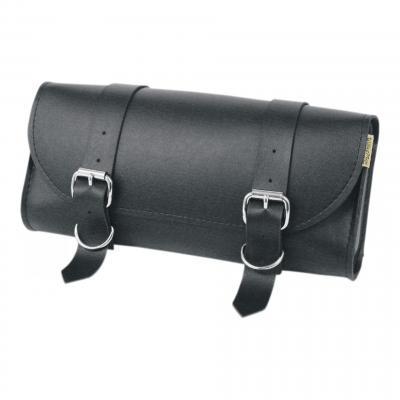 Sacoche à outils Willie & Max cuir synthétique noir finition doubles boucles chrome